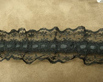 Black Lace, 4.5 cm, sublime to customize a garment, a dress, blouse, bag, pouch