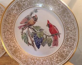 Lenox Boehm bird plate cardinal