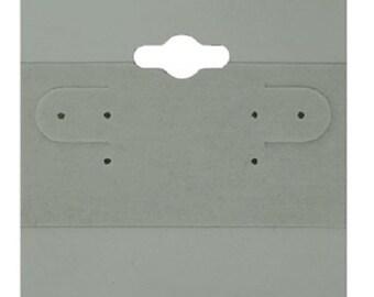 "100 Gray Plain Hanging 2"" x 2"" Earring Card Jewelry Display"