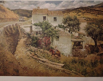 "Clark Hulings ""La Granja"" Signed Limited Edition Archival Print"