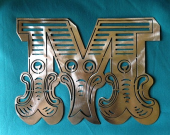 Intricate Circus/Carnival font shiny metal initial by Alexander ArtWorks, Council Grove KS
