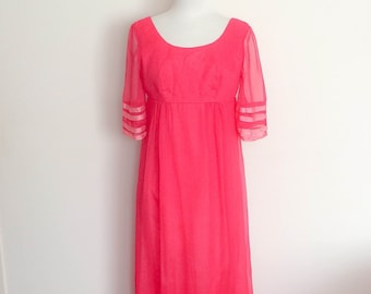 1960s Styled By Daru Fashions Pink Gown Vintage