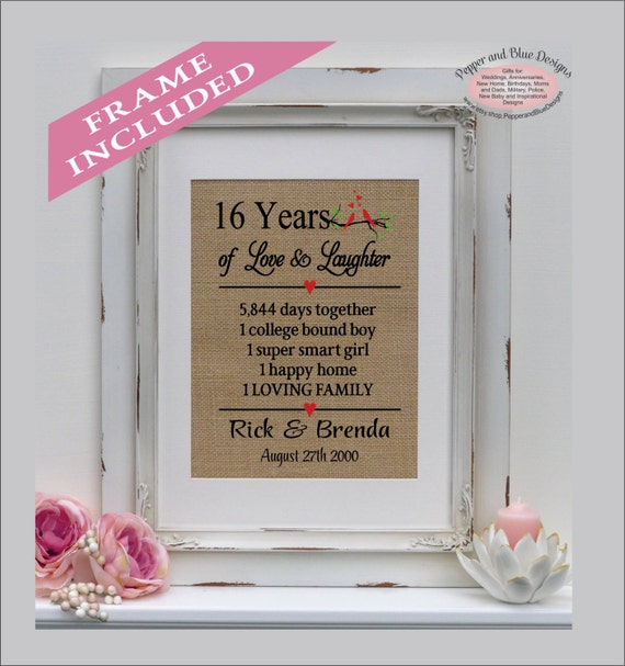 Anniversary Gift Lists By Year: 16th Wedding Anniversary Gifts 16 Years Married 16 Years