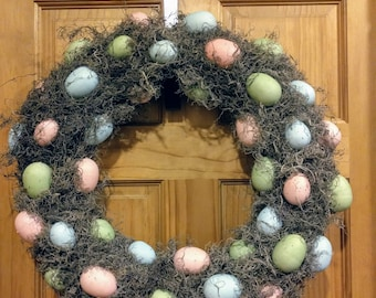 Moss Easter Egg Wreath