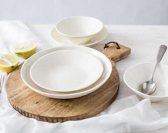 ceramic dinnerware set modern dinnerware sets white plate ceramic dinner plates white - Modern Dinnerware