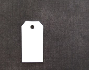 30 White Tags, Gift Tags, Party Favor Tags, Luggage Tags, Weddings, Showers