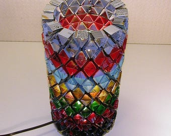 """table lamp made of recycled cans """"rainbow"""""""