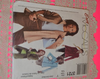 McCalls 3721 Misses Shirts in Three Lengths Sewing Pattern - UNCUT - Size XSM Sml MEd