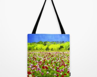 Tote Bag Texas Poppies Texas Landscape Art Bag