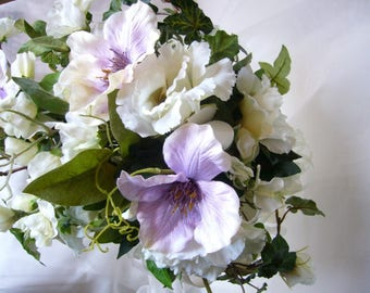 Clematis rose bridal bouquet flowers