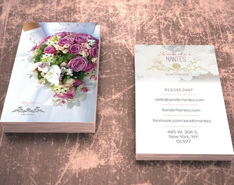 Wedding Photographer Business Card v1 - Photoshop PSD Template - Instant Download - Easy Editing: Change Colors, Photos and Details Fast