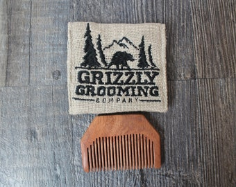 Beard Comb / Gift for Him / Gift For Boyfriend / Fathers Day Gift / Beard Grooming / Gift for Husband / Mustache Comb / Gift for Men