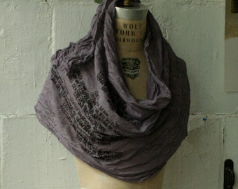 deep orchid hush the Text Gone Awry Scarf Made to Order