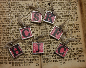 Square or Rectangle Alphabet / Initial Charms Bridesmaids Wedding Graduation