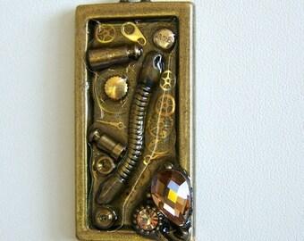 Steampunk Necklace --Vintage Pocket Watch Parts SN207