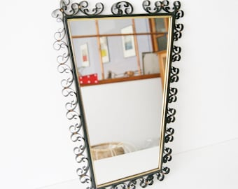 50s mirror, Wall mirror, Iron mirror
