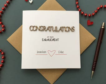 Personalised Congratulations on your Engagement Card
