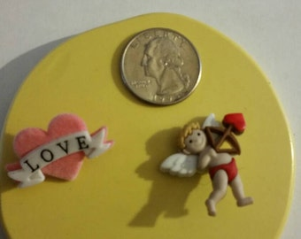 Cupid and Heart Mold