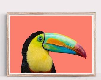 Toucan Print,Tropical Print,Tropical Bird,Toucan Art,Tropical Decor,Wall Art,Toucan,Bird Prints,Art Prints,Wall Decor,Large Wall Art,Print