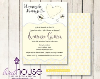 Mommy to Bee Baby Shower Invitation