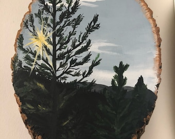 Mountains, trees, and sunshine