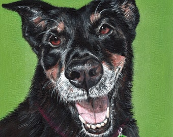 Custom Pet Portrait on Canvas