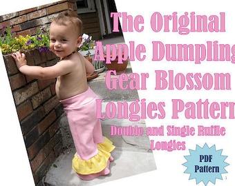 INSTANT DOWNLOAD Blossom Longies PDF Pattern by Apple Dumpling Gear