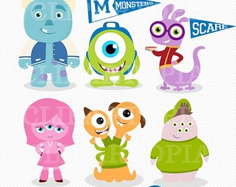 Monsters College Digital Clipart / Monsters Digital Clip art / Monsters Party  For Personal and Commercial Use