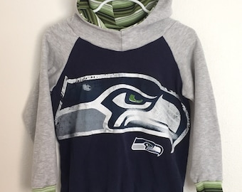 Upcycled Seattle Seahawks Hoodie (2/3T)