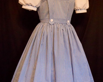 ADULT Size AUTHENTIC Reproduction DOROTHY Costume Dress