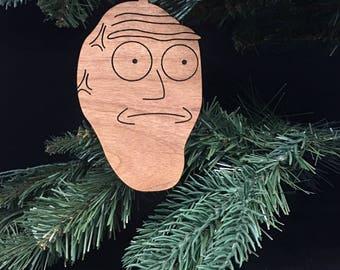 Custom Engraved Hardwood Cromulon Christmas Ornament Rick and Morty
