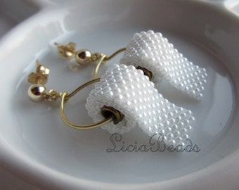 Toilet Paper earrings on gold or sterling silver stud post earrings