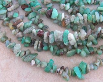 5X8mm Australian Jade Natural Polished Semi-Precious Chip Beads, 36 Inch Strand (IND1C58)