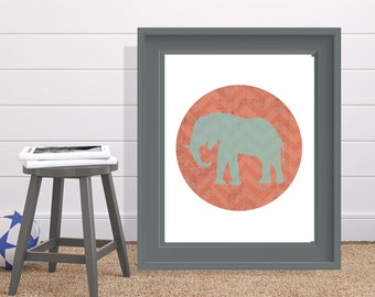Elephant Print 8x10 or 11x14 with Matte Options