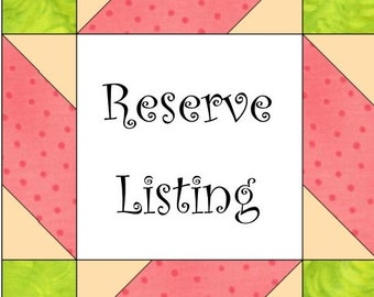 Reserve listing for Sherri Wood