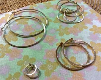Sterling Silver Hoops Small Hammered Hoops Sleeper Earrings Minimal Round Hoops Everyday Silver Huggie Hoops Bellanti Jewelry