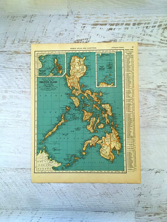 1937 map of philippines puerto rico historical print publicscrutiny Images