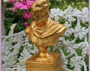 vintage Italian Bust Apollo  orig tag ~NEW OLD STOCK  from an old warehouse ~ was still in orig box