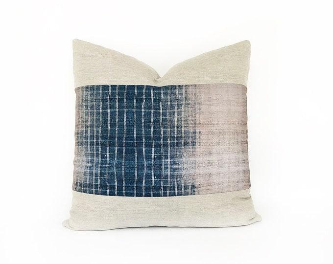 OUTDOOR Indigo Batik Tribal Printed Pillow Cover 20x20