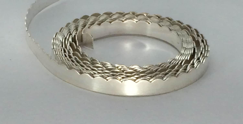 999 silver scalloped 30G bezel wire gallery wire stone