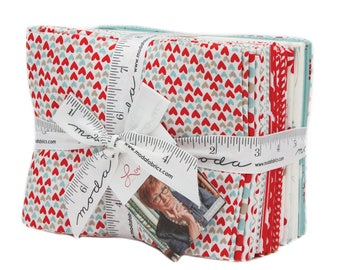 Love You cotton fat quarters by Sandy Gervais for Moda fabric