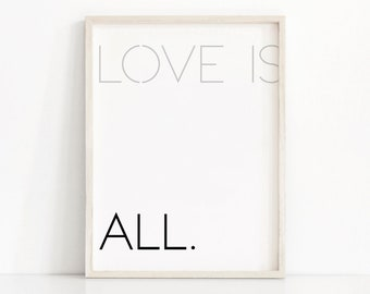 Love Quote Print, Digital Download Art, Printable Wall Art, Typography Art Print, Modern Minimalist Art, Instant Download, Printable Quote