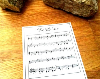 Booklabels Sheet of Music 15 Personalized Ex Libris Bookplates