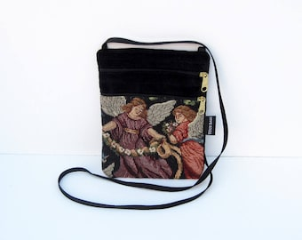 Angel 2 Tapestry Cross Body Flat Purse