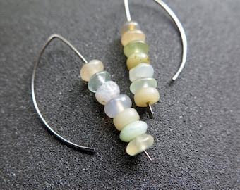 mixed stone earrings. agate jewelry. splurge.