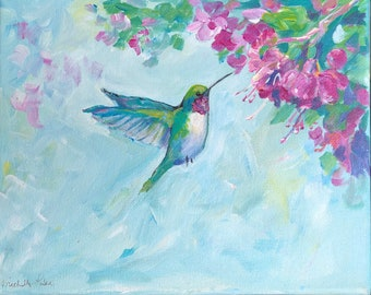 Hummingbird Painting PRINT perfect for Mother's Day