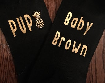 Personalized IVF IUI PUPO infertility socks