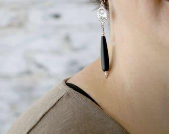 Girlfriend Gift Ideas - Best Friend Gift Ideas - Romantic Dangle Earrings - Elegant Earrings for Her - Seaglass Earrings - Long Earrings