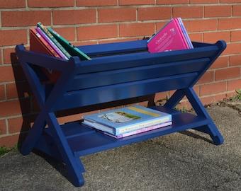 THE ORIGINAL Book Caddy, Book Manger, nursery book rack, X Book Caddy, wooden book stand, Kids Furniture, Nursery Decor, kids room decor