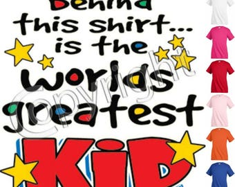 Worlds Greatest Kid Funny T shirt Youth tee Baby Toddler bodysuit KP52